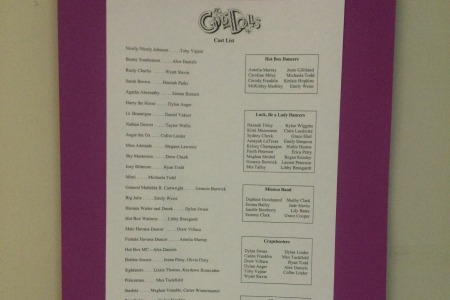'Guys and Dolls' cast prepares for annual Fall musical