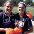 Baker University head softball coach Jaimie Stanclift, at left, with future Wildcat and current Bulldog Kylee Bremer.