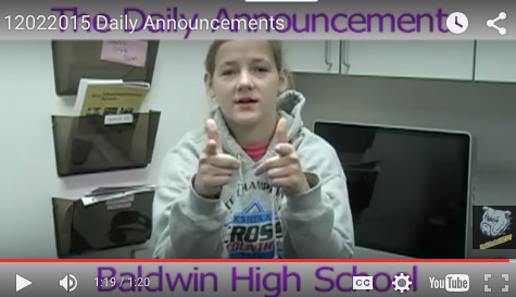 Daily Announcements 12/2/15