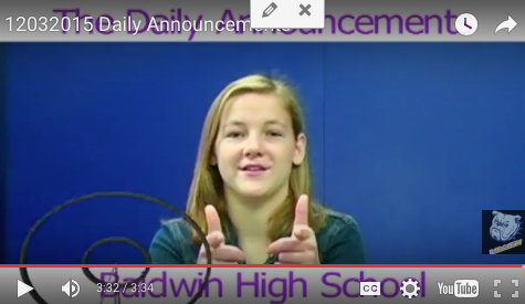 Daily Announcements 12/3/15