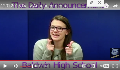 Daily Announcements 12/7/15