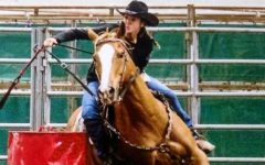 Barrel racing a family tradition for sophomore Macey Frost