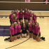 2015-2016 volleyball team on pink out night.