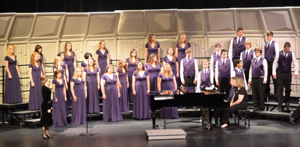 Concert Choir performs at a concert.