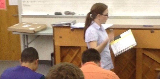 Concert choir creating colorful sounds