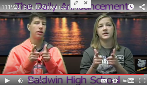 Daily Announcements 11/19/15