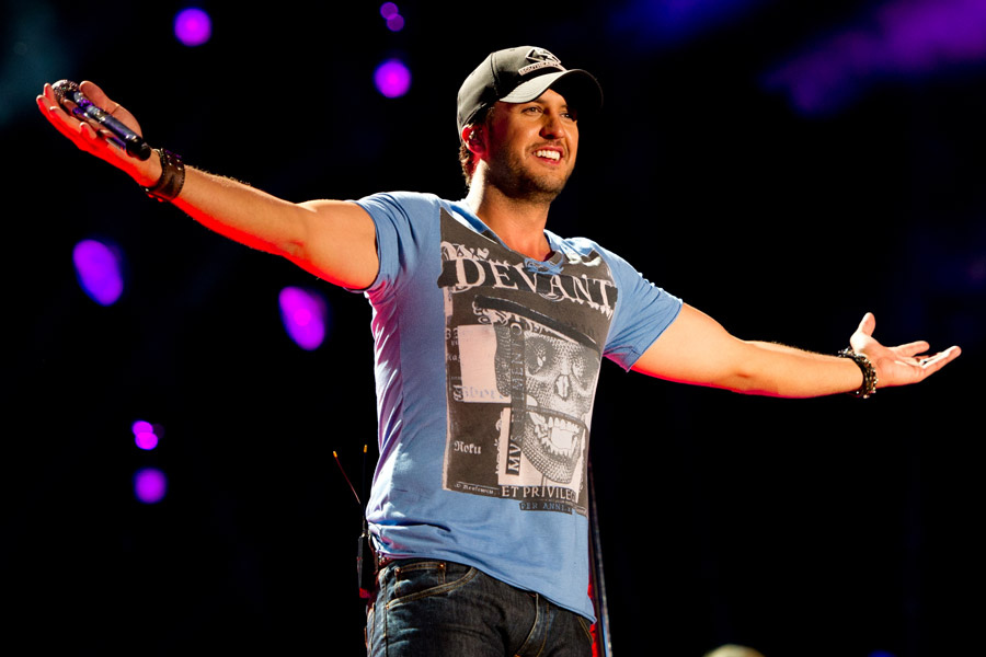 Luke Bryan performing at the 2013 CMA Music Festival in Nashville, TN.