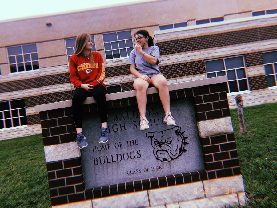 Makenzie Blackman and Misty Price are a few of the many new students at BHS.