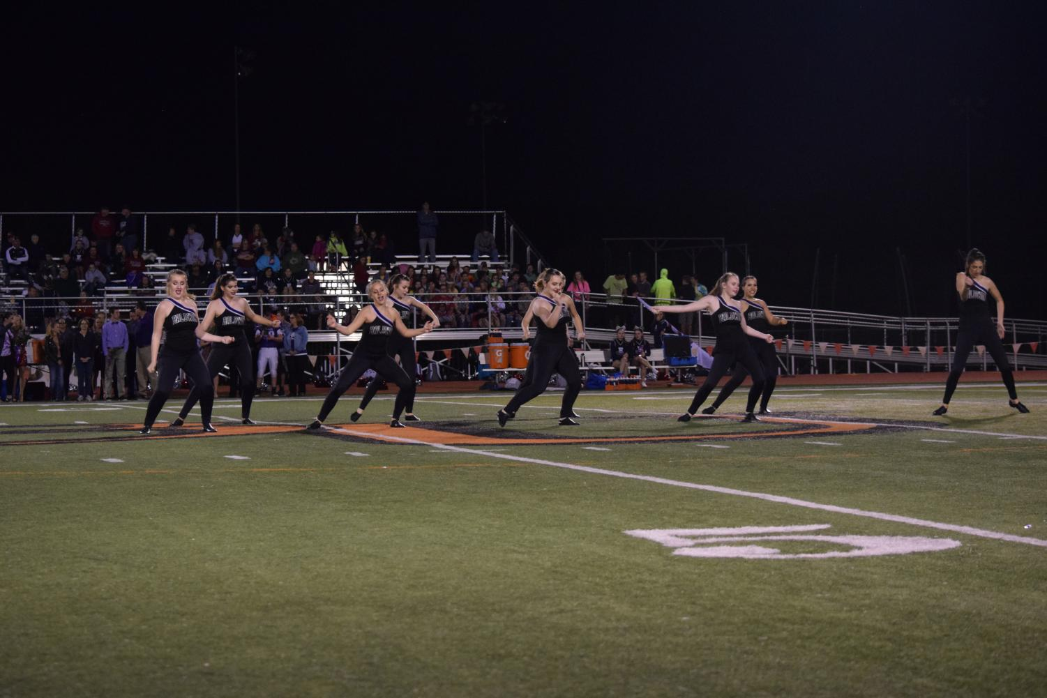 The dance team performed during halftime at the recent Homecoming game.