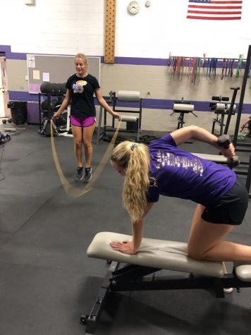 Winter athletes use Fall for Weightroom preparation