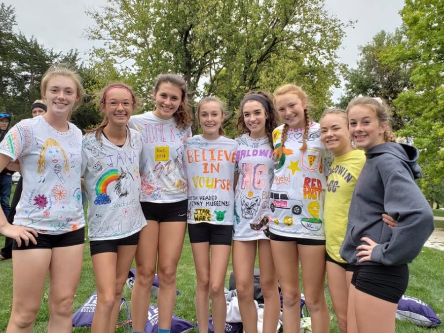 BHS girls cross country not only works hard competing on the course, but they also have a lot of fun during the season.