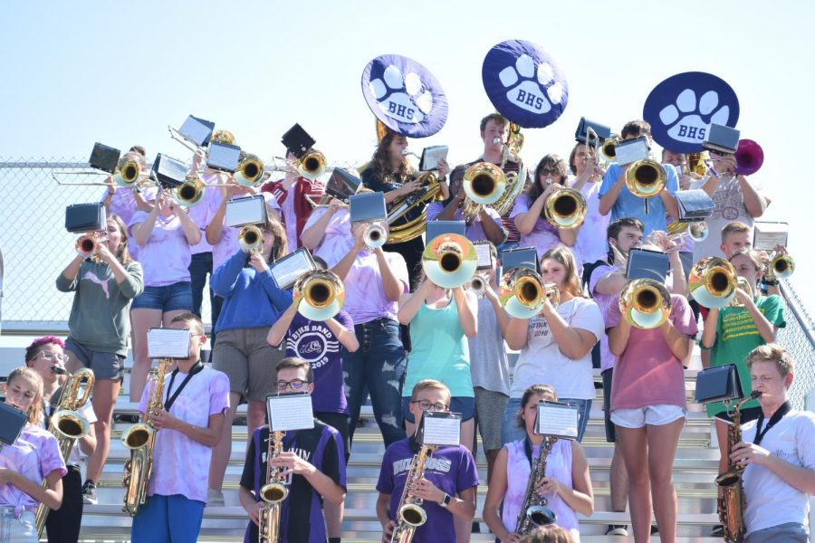 There are many activities, such as band, offered at BHS.