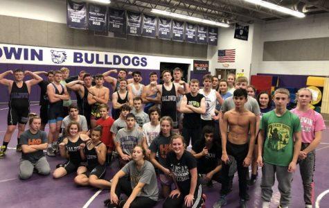 Bulldog Wrestlers 1st practice of the season