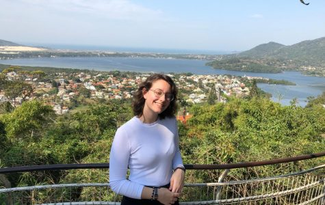 Maravieski poses for a photo in the town of Florianópolis, Brazil. Florianópolis is about 60 miles south of her home town of Itajaí, Brazil.