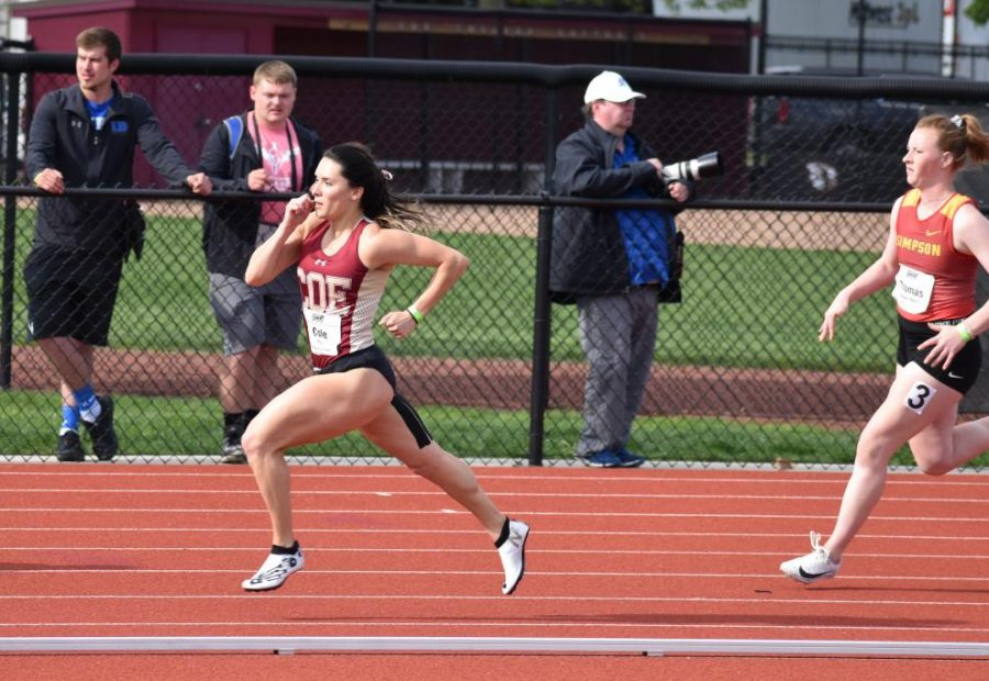 BHS alum Carlyn Cole was set and ready for her senior of track at Coe College in Iowa.