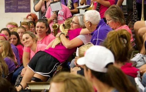 BJHS teacher and coach Brenda Shawley (center) lost a long fight with cancer recently, but left a legacy of impact and influence on students and staff alike.